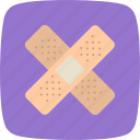 band aid, bandage, emergency, treatment icon