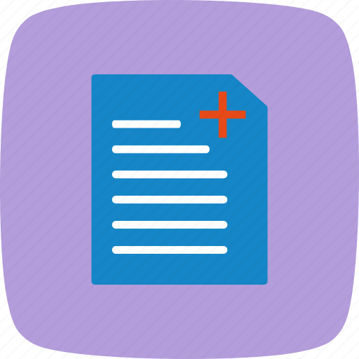 medical chart, medical document, medical record, medical report icon