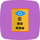 eye test, medical, optometrist icon