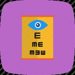 eye, eye test, medical, optometrist icon