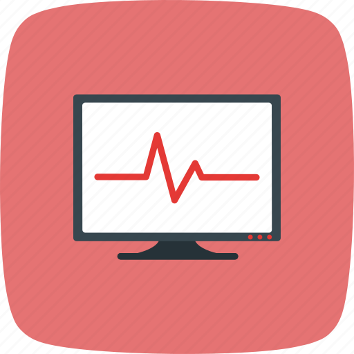 ecg, ekg, frequency, heartbeat, pulse, rate, test icon