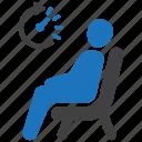 room, sitting, wait, waiting icon