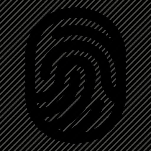 finger, fingerprint, hand, identity, scan icon