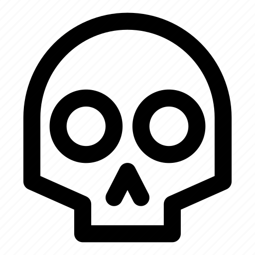 Dead, death, halloween, skeleton, skull icon - Download on Iconfinder