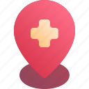 health, hospital, location, pin