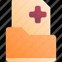 folder, health, history, medical icon