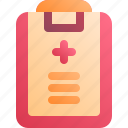 health, hospital, medical, report icon