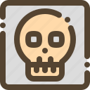 radiology, scan, skull, xray icon