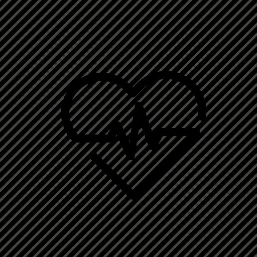cardiogram, health, healthy, heart, heartbeat, medical, medicine icon
