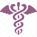 caduceus, healthcare, medical, snake icon