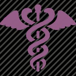 caduceus, healthcare, medical, snake icon
