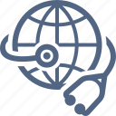 global health, healthcare, stethoscope icon