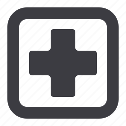 first aid, healthcare, medical cross icon