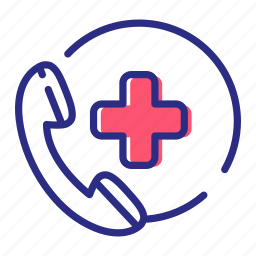 doctor on call, medical assistance, medical help icon