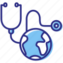 global health, health care, medical, stethoscope icon