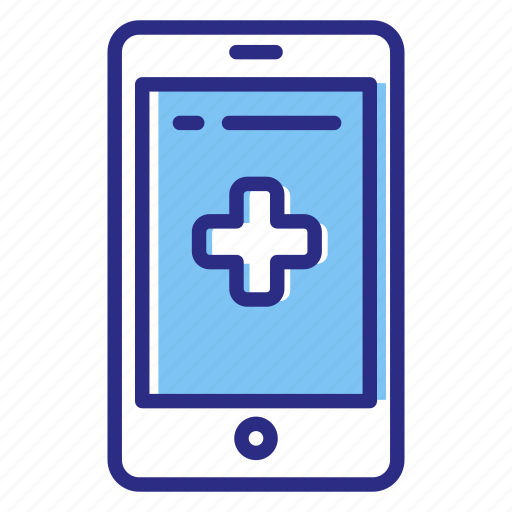 medical help, mobile health, online medical services icon