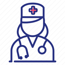 doctor, medical help, nurse, physician, stethoscope icon