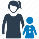 child, kid, mother, parent, pediatrics icon