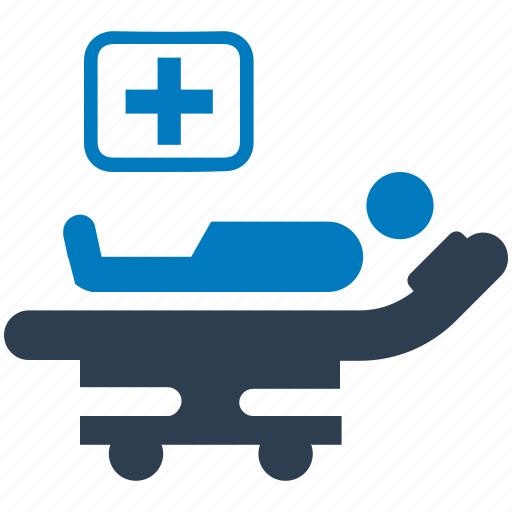 bed, hospital, medical, patient, sick, treatment icon