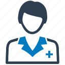 doctor, female, nurse, physician, practitioner icon