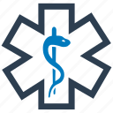 caduceus, life, medical, star icon