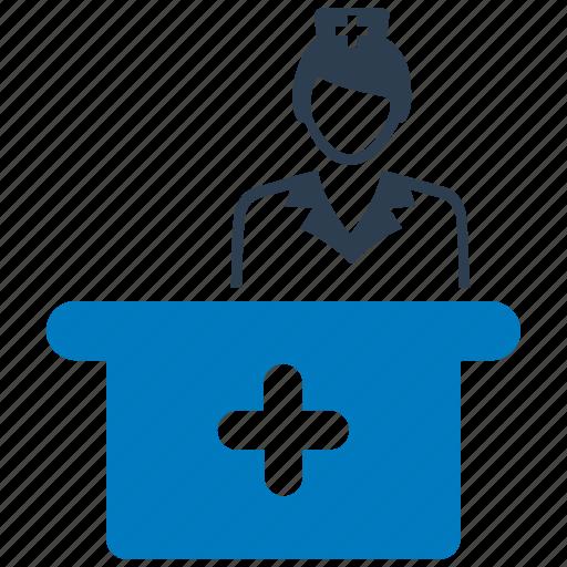 medical, nurse, nursing, service, services icon