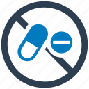 ban, drugs, forbidden, medicine, prohibited icon