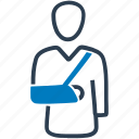 accident, arm, broken, fracture, hand, injury icon