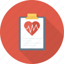 health, heart, medical, monitor, report icon