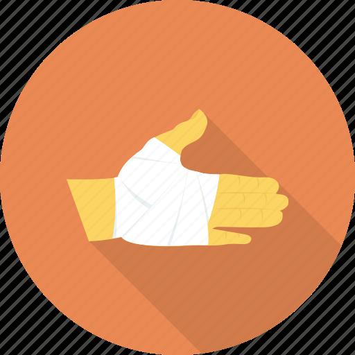 bandage, hand, injury, medical, treatment icon