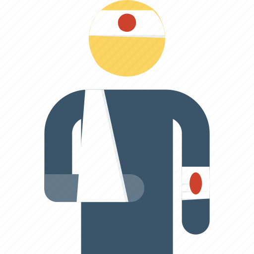 emergency, head, injured, injury, insurance, leg icon