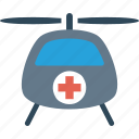 aid, cross, emergency, first, helicopter, medical icon