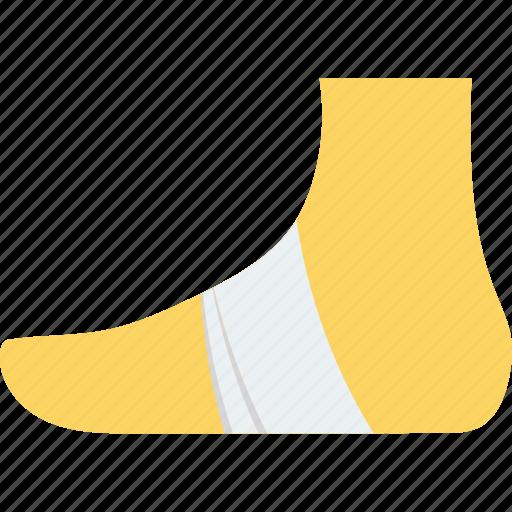 bandage, foot, injury, plaster, sprain icon