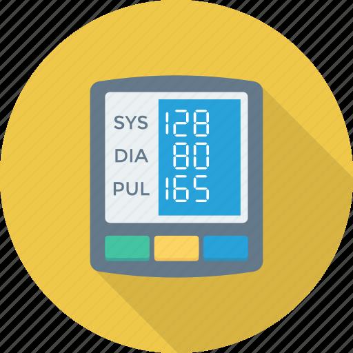 blood, digital, gauge, monitor, pressure icon