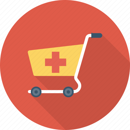 cart, medical, pharmacy, supplies icon