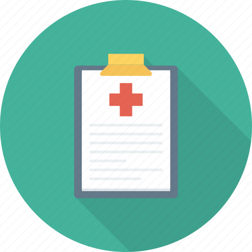 clipboard, document, hospital, medical, notice, write icon