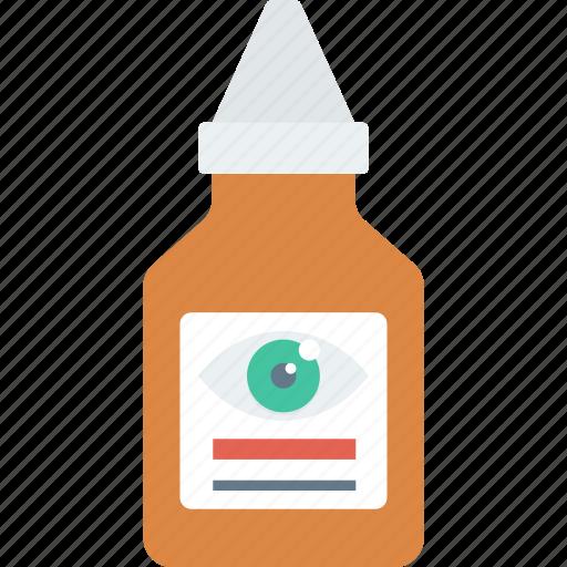 bottle, drop, eye, medical, package icon