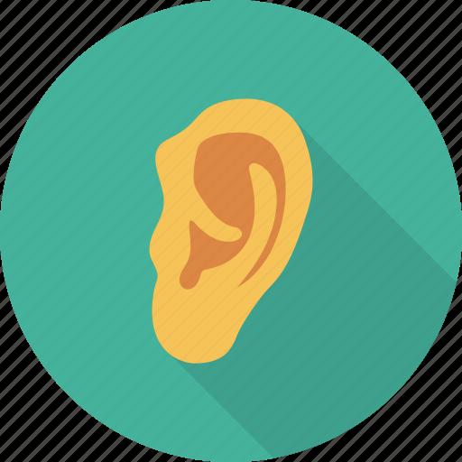 ear, human, listen, medical, sound icon
