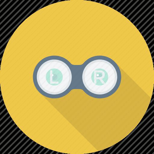 education, eye, glasses, lens icon