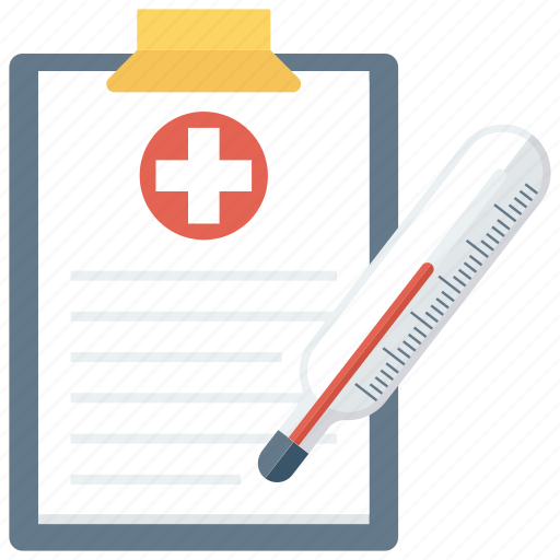 accessories, digital, fever, medical, report, scale icon
