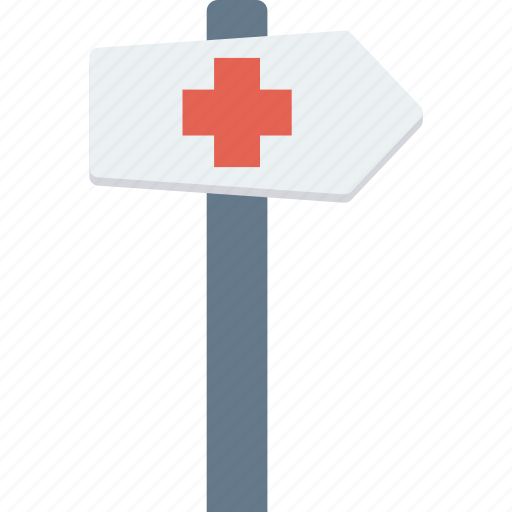 arrow, direction, guidepost, location, signboard icon