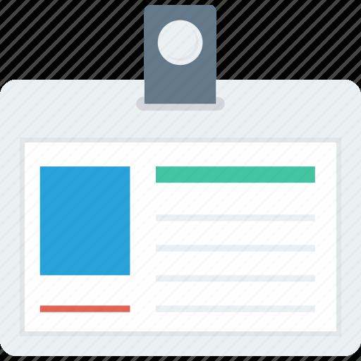 employee, id, identification, identity icon