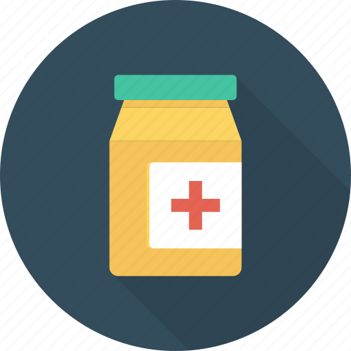 jar, lozenge, medicine, pellet, plastic, tablet icon