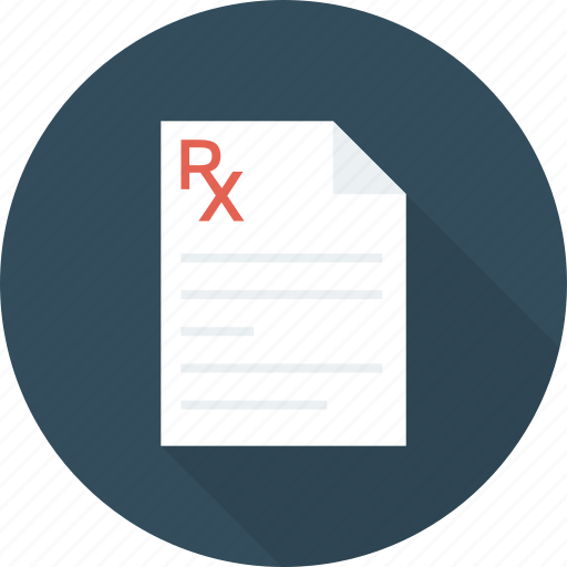 medical, medication, pharmaceutical, pharmacy, prescription, receipt, rx icon