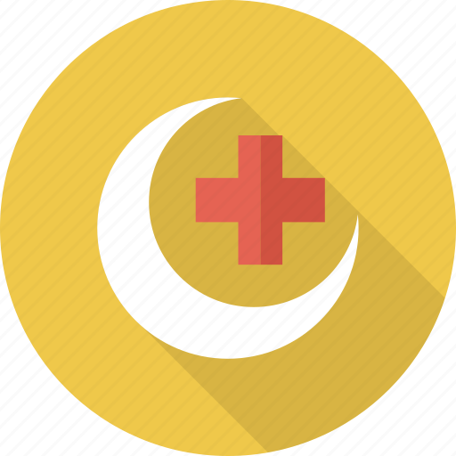 cross, doctor, health, healthcare, medical, moon icon