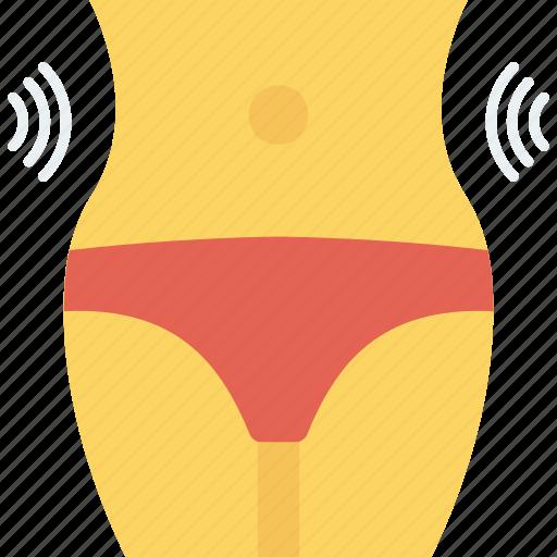 exercise, female, fitness, shrink, slim, waist, waistline icon