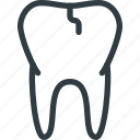 broken, dental, health, tooth icon