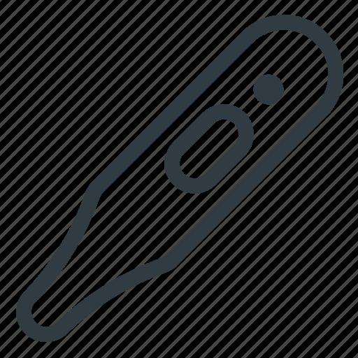 count, measure, temperature, thermometer icon