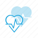 cardio, health, heart, rate, report icon