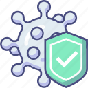 protect, protection, shield, virus icon